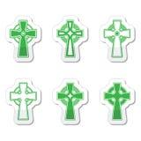Segno irlandese e scozzese della croce celtica Immagini Stock Libere da Diritti