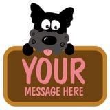 Segno isolato della holding del cane illustrazione vettoriale