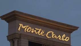 Segno Las Vegas di Monte Carlo alla notte video d archivio