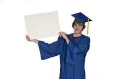 Segno laureato della holding Immagine Stock