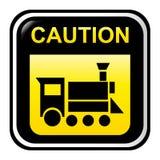 Segno locomotivo di avvertenza Immagine Stock Libera da Diritti