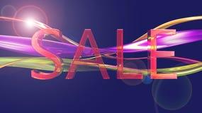 Segno lucido di vendita Fotografia Stock