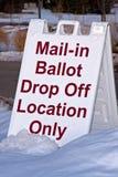 Segno Mail-in della scheda elettorale Fotografia Stock Libera da Diritti