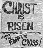Segno materiale di Pasqua sulla resurrezione Fotografia Stock