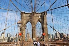 Segno, mattoni, vicino al ponte di Brooklyn Immagine Stock