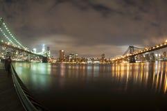 Segno, mattoni, vicino al ponte di Brooklyn immagini stock