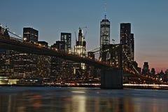 Segno, mattoni, vicino al ponte di Brooklyn Fotografie Stock