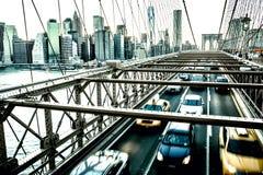 Segno, mattoni, vicino al ponte di Brooklyn Colpo di Horizontall Immagini Stock Libere da Diritti