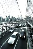 Segno, mattoni, vicino al ponte di Brooklyn Colpo verticale Fotografie Stock