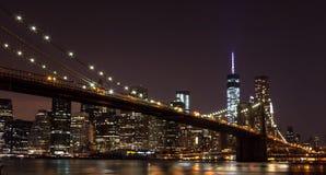 Segno, mattoni, vicino al ponte di Brooklyn New York Gli Stati Uniti immagini stock libere da diritti