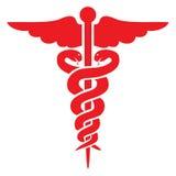 Segno medico rosso Fotografie Stock