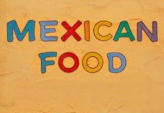 Segno messicano dell'alimento immagini stock libere da diritti
