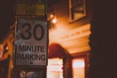 segno minuto di parcheggio 30 fotografia stock