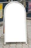 Segno mobile della pavimentazione. Fotografie Stock