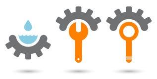 Segno moderno di ingegneria Immagine Stock
