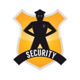 Segno moderno di sicurezza Immagini Stock