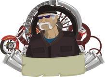 Segno - motocicletta illustrazione di stock