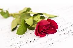 Segno musicale e Rosa immagini stock