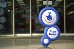 Segno nazionale di lotteria Fotografia Stock Libera da Diritti