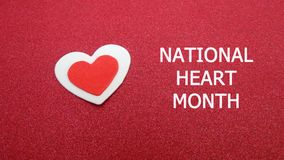 Segno nazionale di mese del cuore fotografia stock libera da diritti
