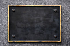Segno nero in bianco fotografia stock libera da diritti