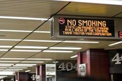 Segno non fumatori immagini stock