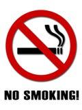 Segno non fumatori Immagine Stock