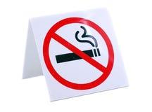 Segno non fumatori Fotografia Stock