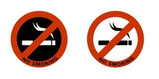 Segno non fumatori sull'icona bianca del fondo illustrazione vettoriale