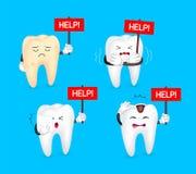 Segno non sano di aiuto della tenuta del dente royalty illustrazione gratis