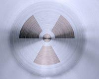 Segno nucleare su metallo Immagini Stock Libere da Diritti