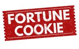 Segno o bollo del biscotto di fortuna illustrazione di stock