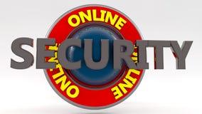Segno online di sicurezza Fotografie Stock