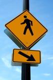 Segno pedonale del crosswalk Fotografia Stock Libera da Diritti