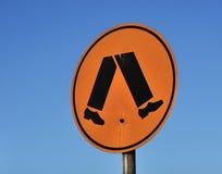Segno pedonale del crosswalk Fotografie Stock