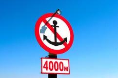 Segno per le navi sulla spiaggia Immagine Stock Libera da Diritti