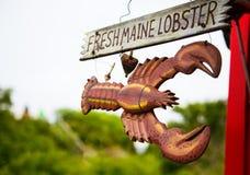 Segno per Maine Lobster fresca Immagini Stock Libere da Diritti