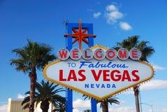 Segno positivo di Las Vegas Fotografia Stock