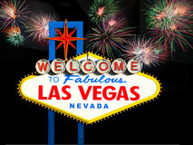 Segno positivo famoso di Las Vegas Fotografia Stock