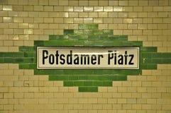 Segno Potsdamer Platz, Berlino di U-Bahn Fotografia Stock