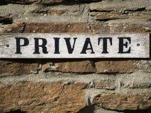 Segno privato   Fotografie Stock