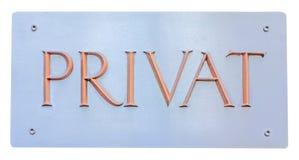 Segno privato Immagini Stock
