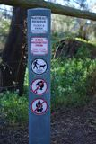 Segno protetto della flora e di fauna della riserva naturale immagini stock libere da diritti