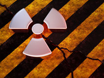 Segno radioattivo Immagini Stock Libere da Diritti