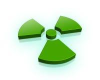 segno radioattivo 3d illustrazione di stock