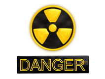 Segno radioattivo del pericolo Immagini Stock Libere da Diritti