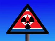 Segno radioattivo nordcoreano illustrazione di stock