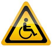 Segno reso non valido handicap illustrazione vettoriale