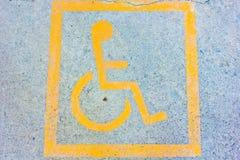 Segno reso non valido su parcheggio Fotografia Stock