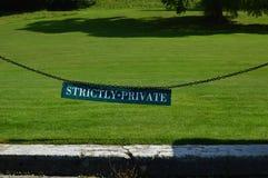 Segno rigorosamente privato Fotografia Stock Libera da Diritti